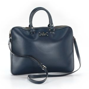 Kate Spade Navy Blue Leather Satchel